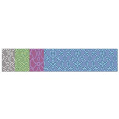 Fine Line Pattern Background Vector Flano Scarf (Small)