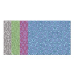 Fine Line Pattern Background Vector Satin Shawl