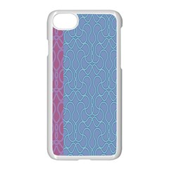 Fine Line Pattern Background Vector Apple Iphone 7 Seamless Case (white)