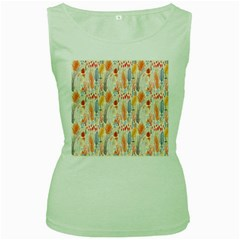 Repeating Pattern How To Women s Green Tank Top