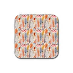 Repeating Pattern How To Rubber Square Coaster (4 pack)