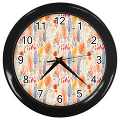Repeating Pattern How To Wall Clocks (Black)