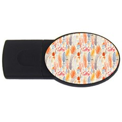 Repeating Pattern How To USB Flash Drive Oval (1 GB)