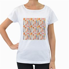 Repeating Pattern How To Women s Loose-Fit T-Shirt (White)