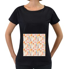 Repeating Pattern How To Women s Loose-Fit T-Shirt (Black)