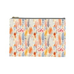 Repeating Pattern How To Cosmetic Bag (Large)