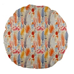 Repeating Pattern How To Large 18  Premium Round Cushions