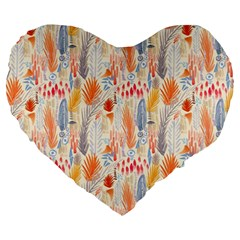 Repeating Pattern How To Large 19  Premium Heart Shape Cushions