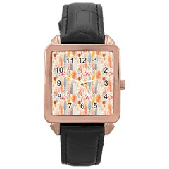 Repeating Pattern How To Rose Gold Leather Watch