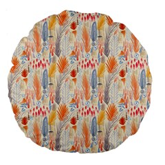 Repeating Pattern How To Large 18  Premium Flano Round Cushions