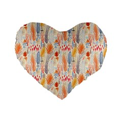 Repeating Pattern How To Standard 16  Premium Flano Heart Shape Cushions