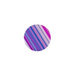 Line Obliquely Pink 1  Mini Buttons
