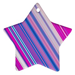 Line Obliquely Pink Ornament (star)