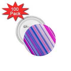 Line Obliquely Pink 1.75  Buttons (100 pack)