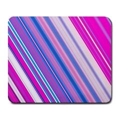 Line Obliquely Pink Large Mousepads
