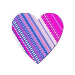 Line Obliquely Pink Heart Magnet