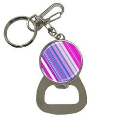 Line Obliquely Pink Button Necklaces