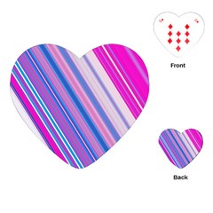 Line Obliquely Pink Playing Cards (Heart)