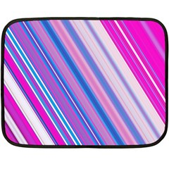 Line Obliquely Pink Fleece Blanket (mini)