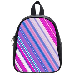 Line Obliquely Pink School Bags (Small)