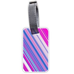 Line Obliquely Pink Luggage Tags (Two Sides)