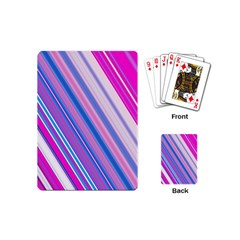 Line Obliquely Pink Playing Cards (mini)