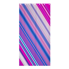 Line Obliquely Pink Shower Curtain 36  x 72  (Stall)