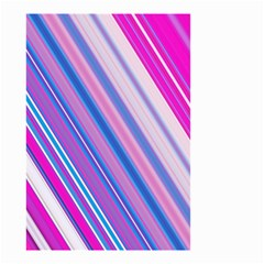Line Obliquely Pink Small Garden Flag (Two Sides)