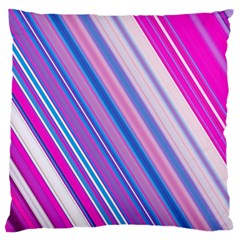 Line Obliquely Pink Large Cushion Case (Two Sides)