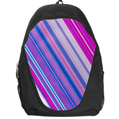 Line Obliquely Pink Backpack Bag