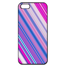 Line Obliquely Pink Apple iPhone 5 Seamless Case (Black)