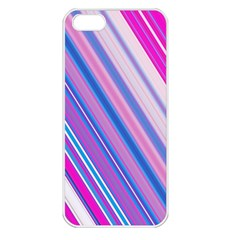 Line Obliquely Pink Apple iPhone 5 Seamless Case (White)