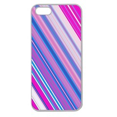 Line Obliquely Pink Apple Seamless iPhone 5 Case (Clear)