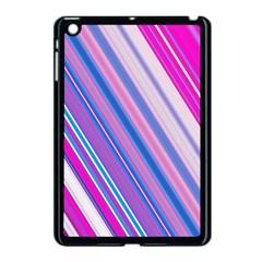 Line Obliquely Pink Apple iPad Mini Case (Black)