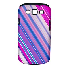 Line Obliquely Pink Samsung Galaxy S III Classic Hardshell Case (PC+Silicone)