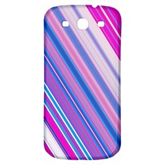 Line Obliquely Pink Samsung Galaxy S3 S Iii Classic Hardshell Back Case