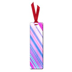 Line Obliquely Pink Small Book Marks
