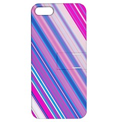 Line Obliquely Pink Apple iPhone 5 Hardshell Case with Stand