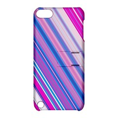 Line Obliquely Pink Apple iPod Touch 5 Hardshell Case with Stand