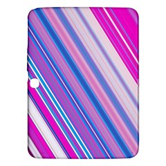Line Obliquely Pink Samsung Galaxy Tab 3 (10.1 ) P5200 Hardshell Case