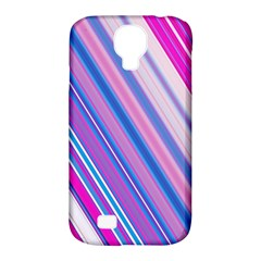 Line Obliquely Pink Samsung Galaxy S4 Classic Hardshell Case (PC+Silicone)