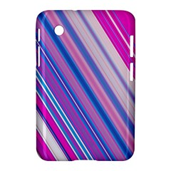 Line Obliquely Pink Samsung Galaxy Tab 2 (7 ) P3100 Hardshell Case