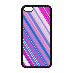 Line Obliquely Pink Apple iPhone 5C Seamless Case (Black)