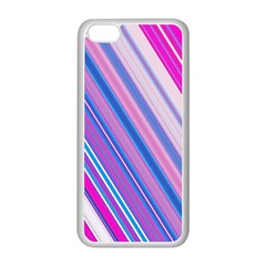 Line Obliquely Pink Apple iPhone 5C Seamless Case (White)