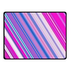 Line Obliquely Pink Double Sided Fleece Blanket (Small)