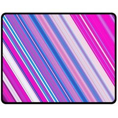 Line Obliquely Pink Double Sided Fleece Blanket (medium)