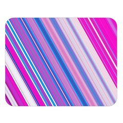 Line Obliquely Pink Double Sided Flano Blanket (Large)