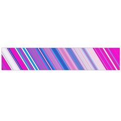 Line Obliquely Pink Flano Scarf (Large)