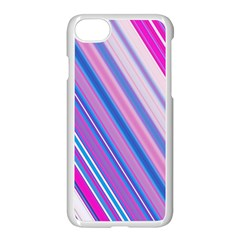 Line Obliquely Pink Apple Iphone 7 Seamless Case (white)