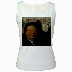 Alfred Hitchcock - Psycho  Women s White Tank Top